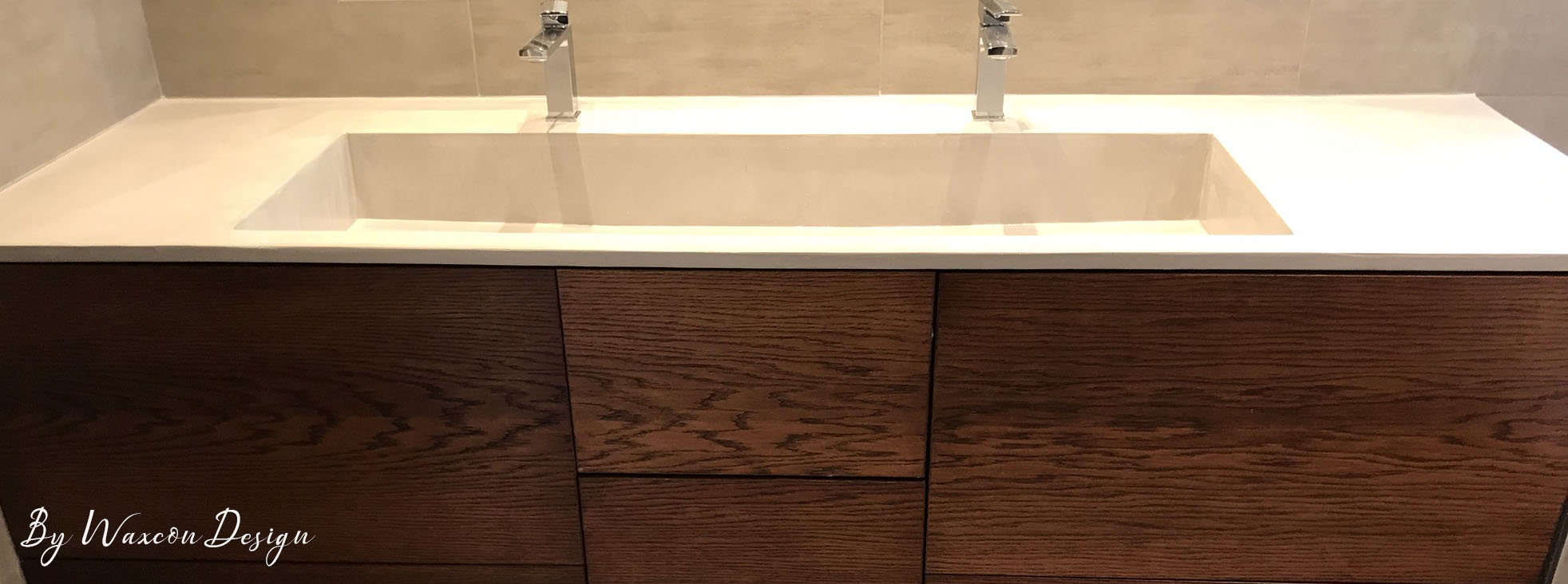 vasque en beton cire blanc